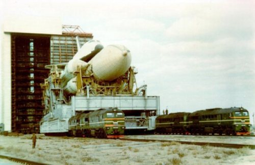 Soviet Buran shuttle at Baikonur