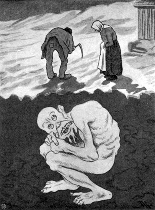 exapamicron:  (vía MONSTER BRAINS: Theodor Kittelsen)