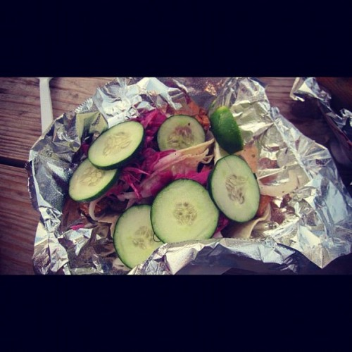 El Pelon's pescado tacos. Absolutely beautiful (Taken with Instagram)