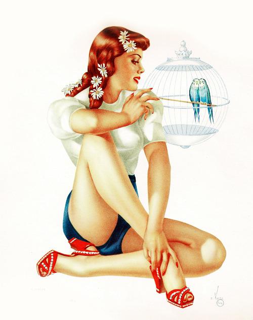 vintagegal:  Illustration by Alberto Vargas, 1942
