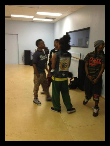 June 2012 Mindless Behavior during Rehearsal in L.A :)