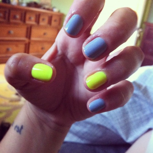 theholynail:  Neons and pastels. (Taken with Instagram)