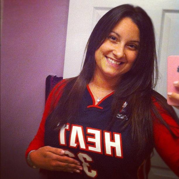 Can't find my Wade jersey so I resorted to Shaq. Don't judge me. #miamiheat #letsgoheat #easternconferencefinals  (Taken with Instagram)