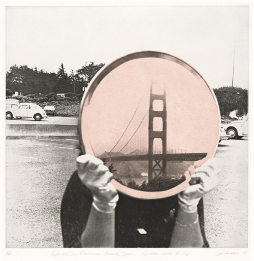 realityayslum: Iain Baxter - Golden Gate Bridge, from the series Reflected San Francisco Beauty Spots, 1979. (My Beautiful City) … via the SFMoMA