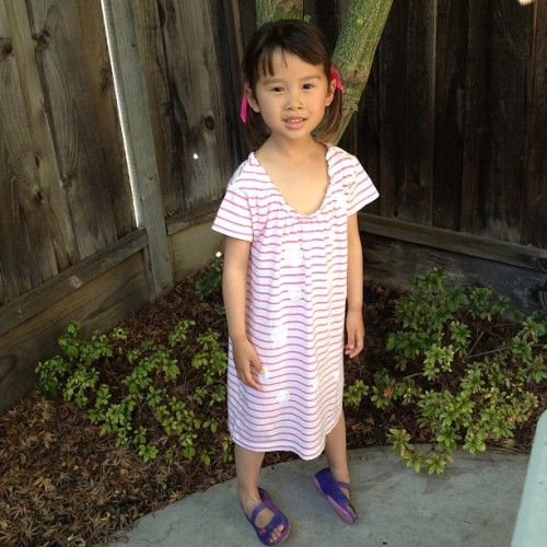 Size 14 in Crewcuts = a dress for a 5 yo!   (Taken with Instagram)