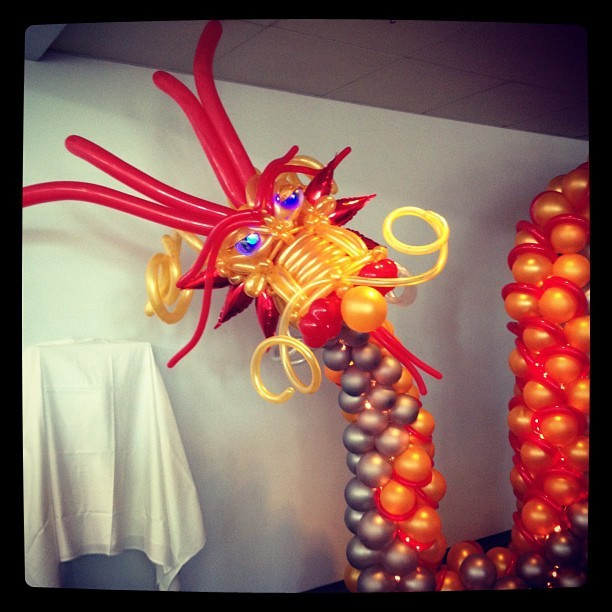 Best balloon dragon I've ever seen! Happy birthday, @insidekungfu! (Taken with Instagram at San Jose McEnery Convention Center)