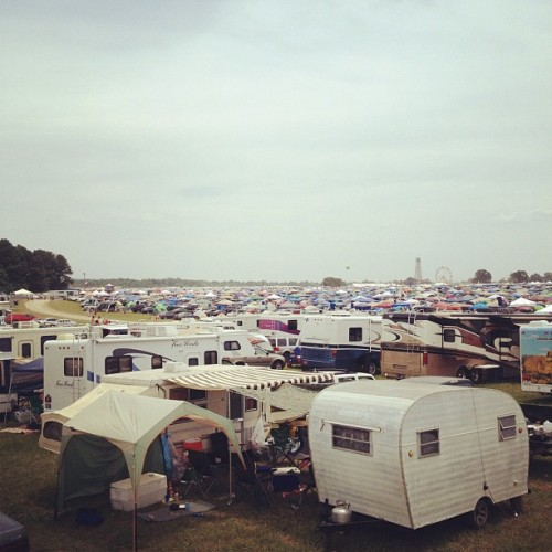 My view this morning from the roof @Bonnaroo  (Taken with Instagram)