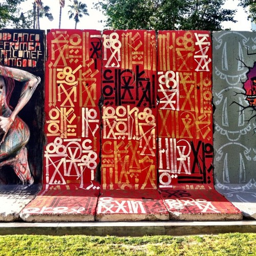 Retna on the Berlin Wall section on Wilshire near Spaulding, Los Angeles,CA (Taken with Instagram)