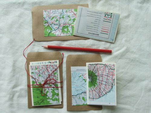 teachingliteracy:  map stationery (by tiny happy)