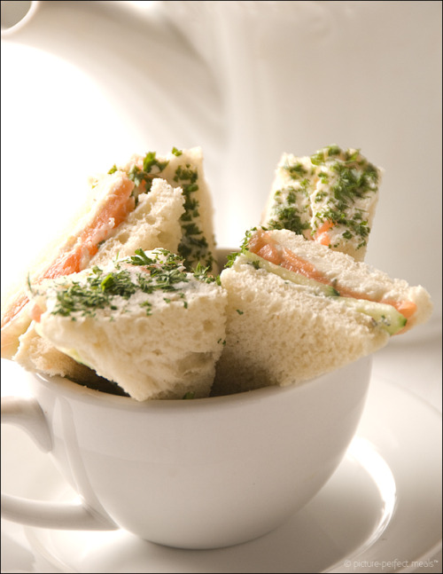 2am-temptations:  Herb-crusted Smoked Salmon Tea Sandwiches
