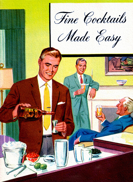 theniftyfifties:  Fine Cocktails Made Easy - 1950s book cover.