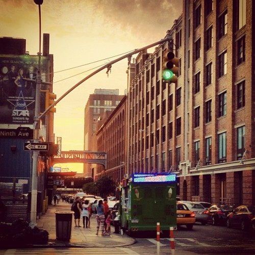 Sunrise over the Highline NYC… (Taken with Instagram)