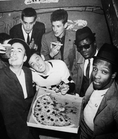 The Specials eating Pizza