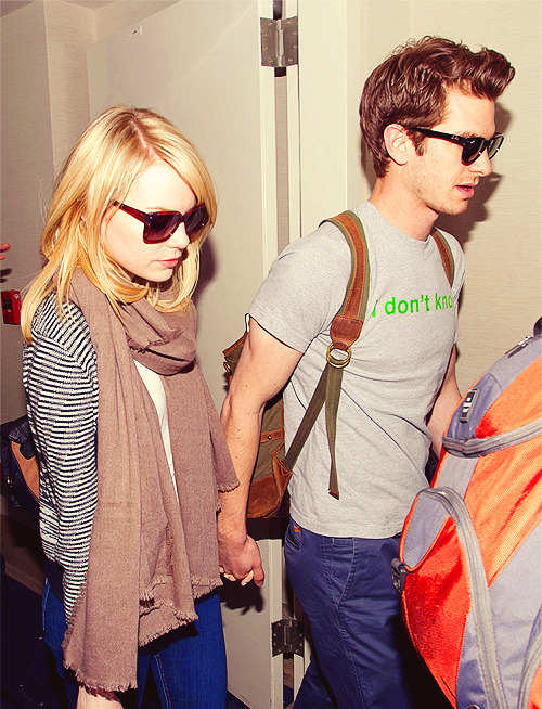 06.06.12 | Andrew Garfield and Emma Stone Departing LAX