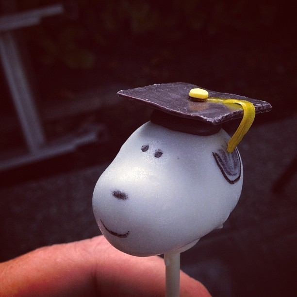 Snoopy Cake Pop (Taken with Instagram)