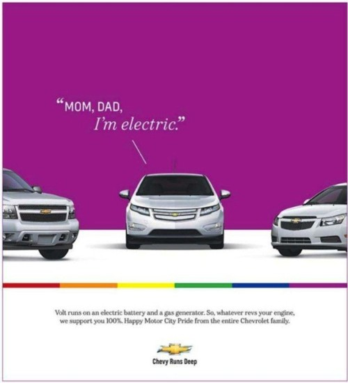 nadaah:  Chevrolet Goes Gay: New ad for Chevy Volt