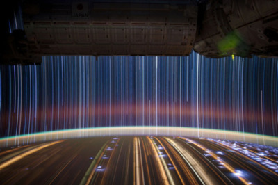 "One of astronaut Don Pettit's ""star trail"" composite images."