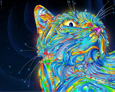 Another trippy cat.