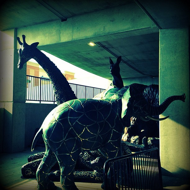 zenfaerie:  Meanwhile, in the parking garage… (via Zenfaerie's Instagram)