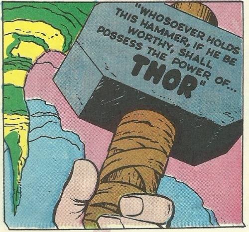Always amused that the epic declaration on Mjölnir is in something akin to Comic Sans.