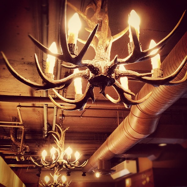 #whistler #starbucks #bc #awesome #antlers #lights #cool #canada  #creative #interesting (Taken with Instagram)