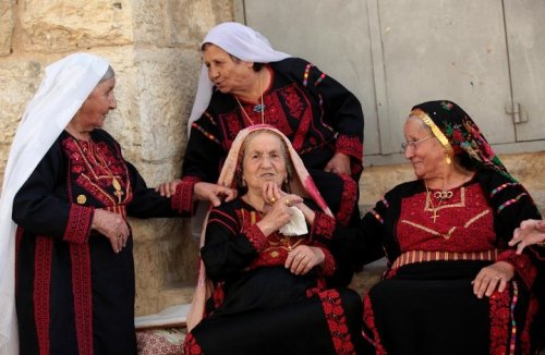 farahfilasteen:  Old Palestinian women (and men) are the soul of Palestine, they are just the most inspiring people. Filled with stories, memories, and history. If you ever get the opportunity to meet one ask them about Palestine before the Israel occupation and during and how their life was. You will NEVER get bored.  صباحكن أخضر يا من تحرسن الذاكرة والحكايا والخرافات والأمثال صباحكم فلسطين
