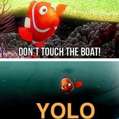 You go, Nemo.
