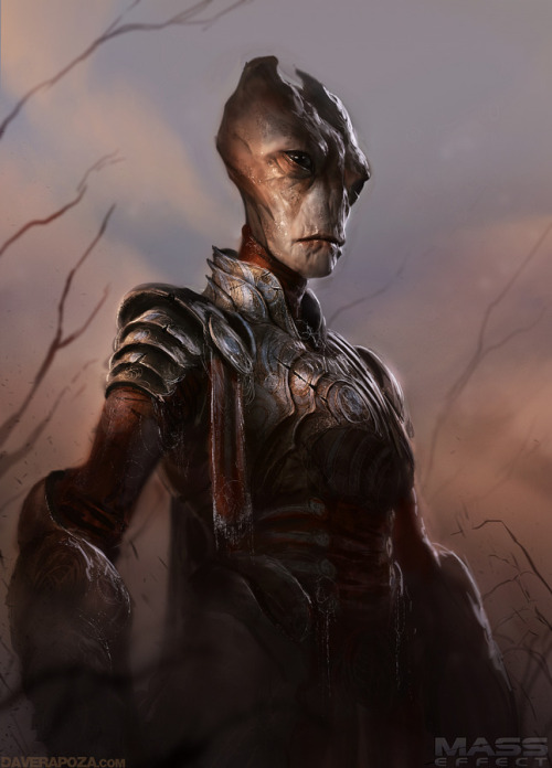 assorted-goodness:  Mass Effect Medieval: Salarian - by David Rapoza DeviantART || Twitter || CGHub