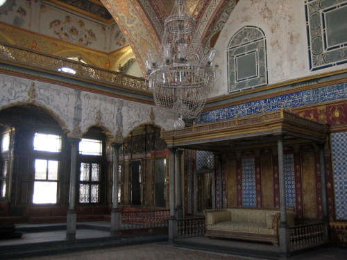 The Imperial Hall in Topkapi Palace. Istanbul, Turkey.