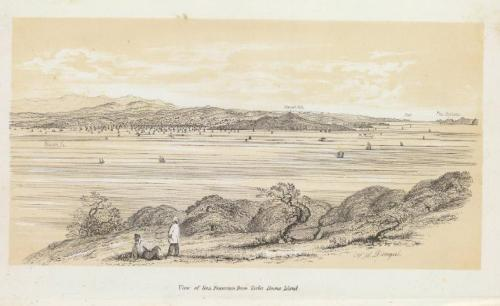 William H. Dougal and Cadwalader Ringgold, View, San Francisco from Yerba Buena Island, 1852