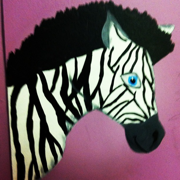 Painted today #zebra #animal #paint #art #myart #acryllicpaint (Taken with Instagram)
