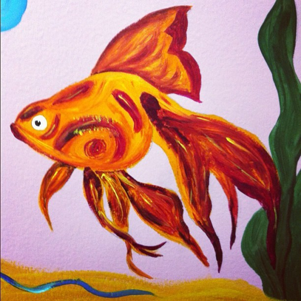 Painted today #acryllicpaint #myart #art #paint #animal #fish (Taken with Instagram)