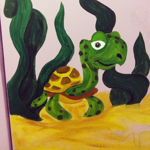 Painted today #animal #paint #art #myart #acryllicpaint #turtle (Taken with Instagram)