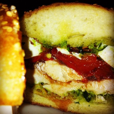 Rubirosa chicken sandwich always great at 1am as well as lunch daily!!! (Taken with Instagram)