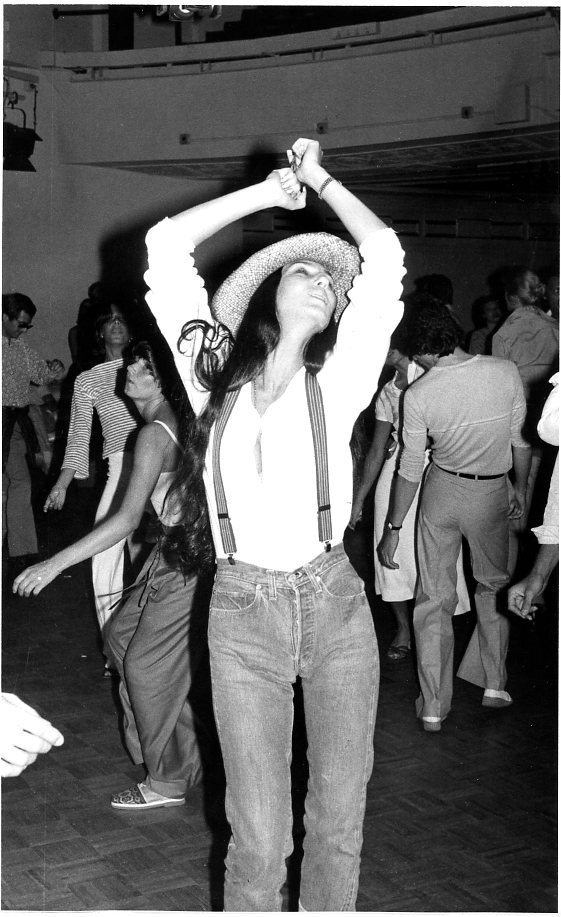 suicideblonde:  Cher at Studio 54, circa 1977.