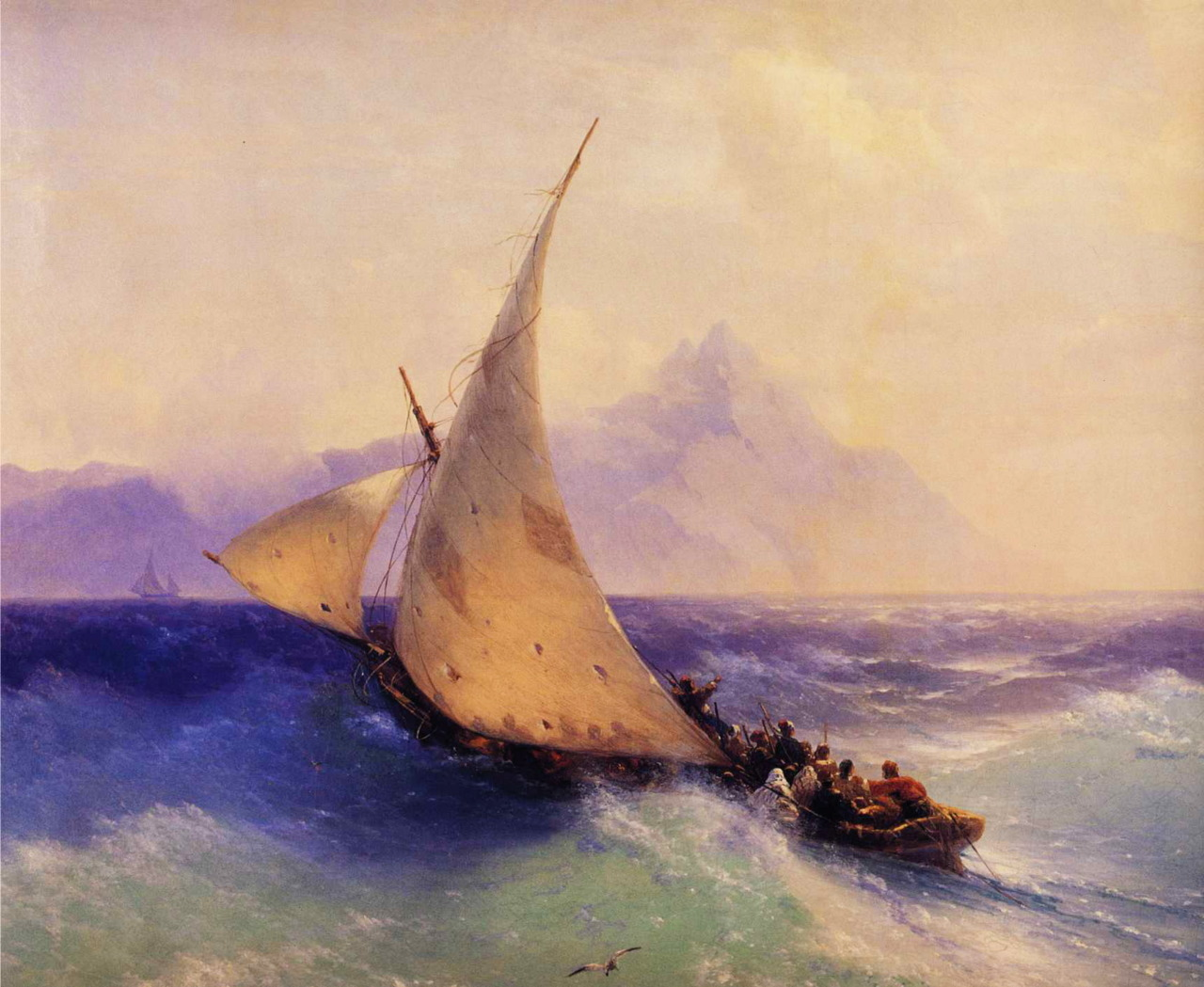 Rescue at Sea, 1872, Ivan Aivazovsky