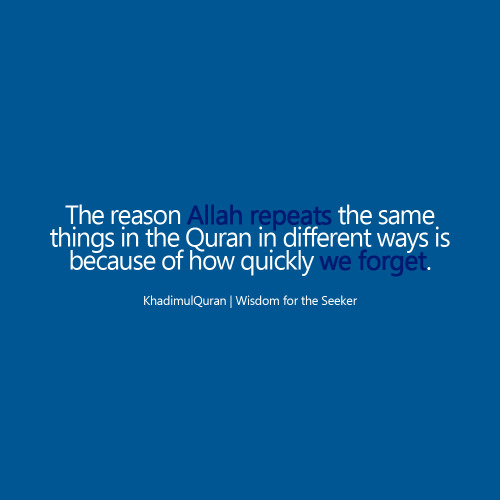 khadimulquran:  The reason..