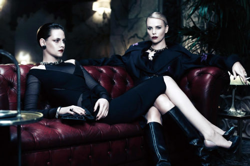 Charlize Theron and Kristen Stewart grace in front of Mikael Jansson's lens for the June/July issue of Interview magazine, with styling by Karl Templer.           Original Article
