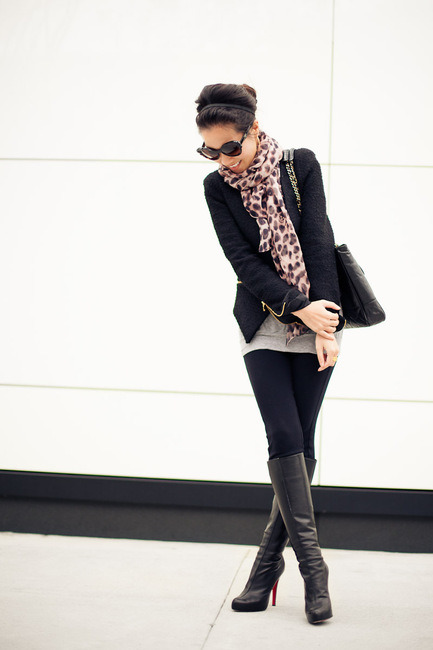 (via Onyx :: Black tweed & Rose leopard : Wendy's Lookbook)
