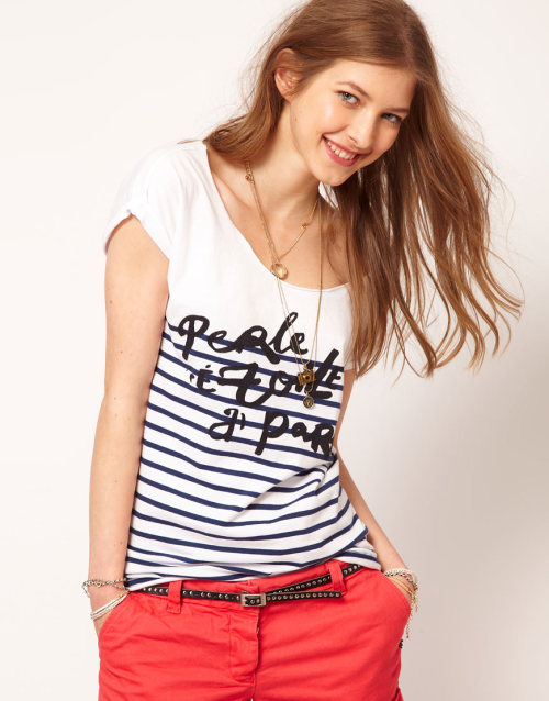 Maison Scotch 'Etoile a Paris' T-shirtMore photos & another fashion brands: bit.ly/JgOZF8