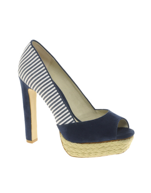 Faith Chelsy Stripe Platform Heeled ShoesMore photos & another fashion brands: bit.ly/Jly0fK