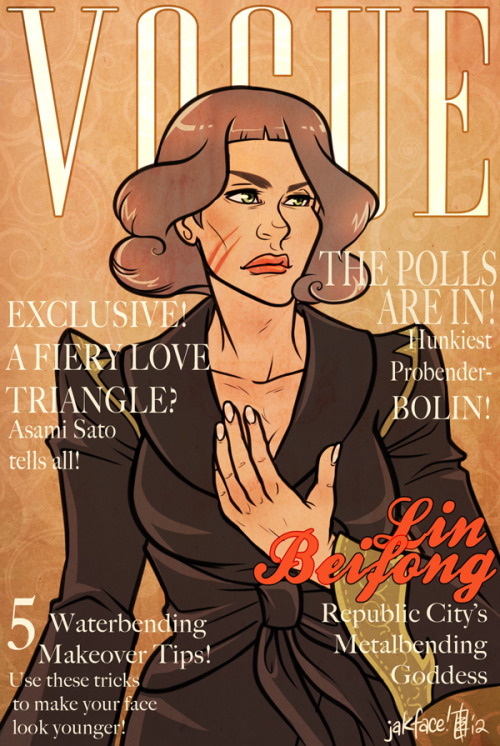 You know she'd make the most amazing Vogue cover ever. DAT JACKET! <3 edit: Forgot her scars!