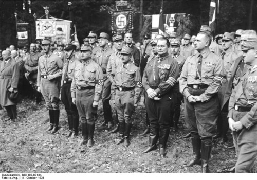 11 Oktober 1931 - During the establishment of the Harzburg Front in Bad Harzburg with Heinrich Himmler, Ernst Röhm, Hermann Göring, and Prussian Minister Kulti Rust