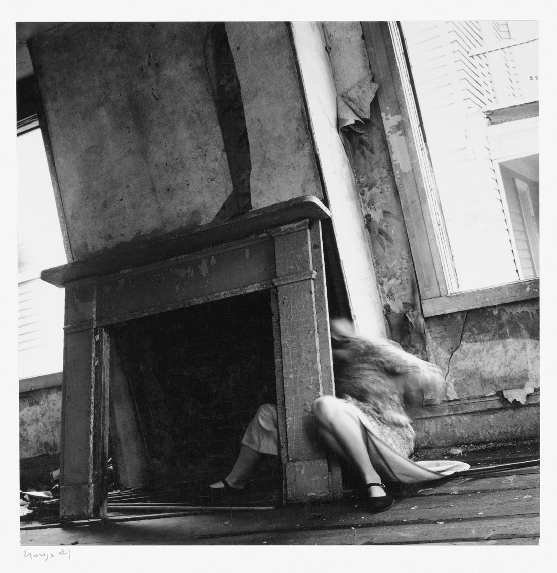 mirrormaskcamera:  (via Art Blart - 'francesca woodman' at the guggenheim museum, new york)  Francesca Woodman, House #4 1976 Providence, Rhode Island