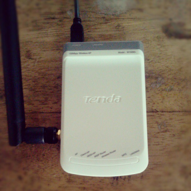 Got this one portable router, seem working well. (Taken with Instagram)