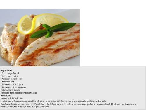 Lemon Herb Barbeque Sauce for Chicken