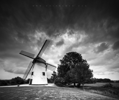 Landscape photography: Gustot Windmill by David Herreman