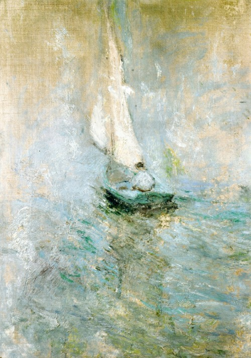 wasbella102:  John Henry Twachtman - Sailing in the mist colourthysoul: