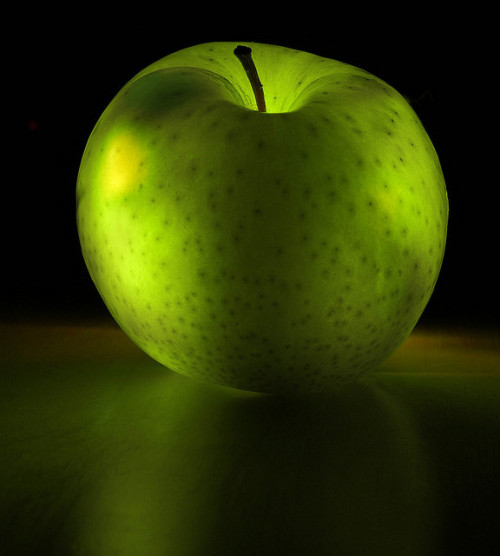 Glowing apple by Masood Sharif on Flickr.