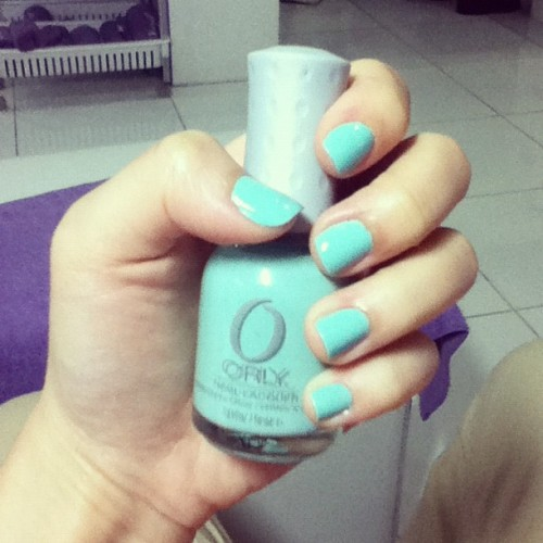 Nail color of the day: Gumdrop <3 (Taken with Instagram at Greenhills Shopping Center)